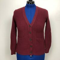 Madewell Women Size XS Button Front Textured Red Sweater Cardigan