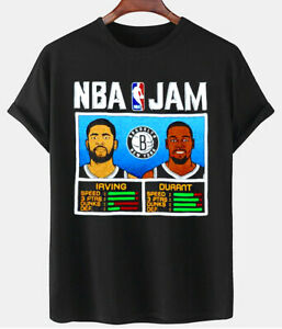NBA Jam T-Shirt Kyrie Irving and Kevin Durant Shirt Funny Basket Cotton Unisex