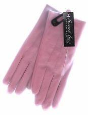 NEW VECCI LADIES PINK NAPPA LEATHER GLOVES (SIZE SMALL/MEDIUM/LINED)