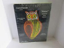 "Vintage 1973 String art Curvillusion ""Hootowl"" Design Sealed Kit Rare Find!!!"