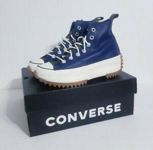 Converse Run Star Hike Hi Platform Boot Navy White New 568650C Women's Size