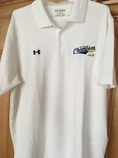 AWESOME NEW JIMMIE JOHNSON UNDER ARMOUR 7-TIME CHAMP WHITE POLO SZ 2XL