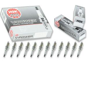12 pcs NGK V-Power Spark Plugs for 2003-2005 Mercedes-Benz E320 3.2L V6 - mg