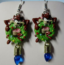 NORA WINN ~TAZ~ Earrings 925 Christmas LOONEY TUNES MOVIE CHARACTERS