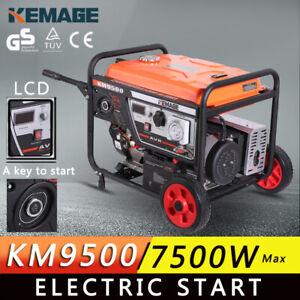 -KEMAGE Generator 7.5kVA Max 7kVA Rated Portable Camping Petrol Single Phase-