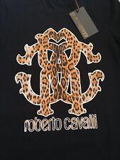 Stunning ladies Roberto cavalli leopard print logo top bnwt size small rrp£150