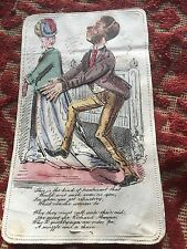 More details for 1868 valentines card ( man in a muzzle & chain )  rare card !