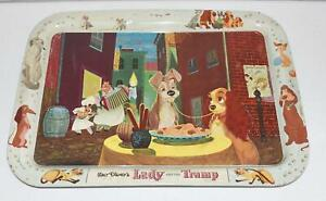"""* Vintage 17"""" x 12.5"""" Serving/TV Tray - Walt Disney Lady And The Tramp"""