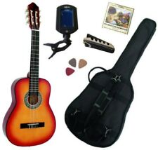 Pack Guitare Classique 3/4 (8-13ans) Pour Enfant Avec 5 Accessoires (sunburst)