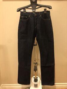 American Apparel Men's Dark Wash Classic Fit Austin Jeans Murray Wash Size 30