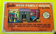 Vintage Mattel Barbie 1968 New Family House #1066 Cardboard Hang Tag* 2 Sided