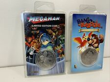 Banjo Kazooie & Megaman Limited Edition Exclusive Collectors Silver Coins NEW