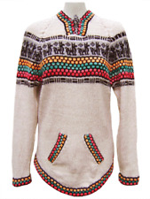 WHOLESALE LOT OF 10 GIRLS 100% ALPACA SWEATERS WITH RAINBOW ANDEAN DESIGN