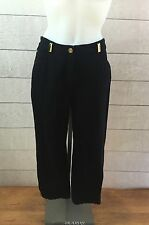 St John Sport Marie Gray Black Jeans Pants Womens 6 Straight Leg Short 27 Inseam
