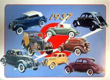 1937 Ford Hand Drawn Illustration Poster FoMoCo