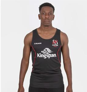 Ulster Rugby Vest Shirt Men's Kukri Rugby Gym Training Vest - Black- New