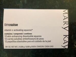 Mary Kay TimeWise VITAMIN C ACTIVATING SQUARES Pkg/12 New in Package