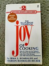 Joy of Cooking Vol 2-Appetizers, Desserts and Baked Goods by Marion Rombauer