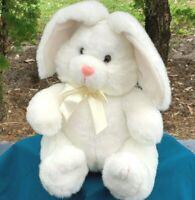 "RARE Vintage Wondertreats Inc White Bunny Rabbit 11"" Plush Stuffed Animal Toy"