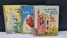 A Little Golden Book The White Bunny Red Hen Jack House TF
