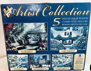 NIB Sure Lox Artist Collection 5 Different Deluxe Jigsaw Puzzles 3250 Pieces