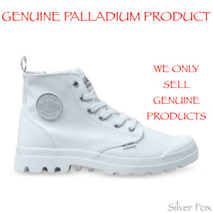 PALLADIUM PAMPA HI ZIP CANVAS STAR WHITE BOOTS SHOES BRAND NEW WITH TAGS