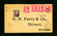 US Stamps on 1897 Registered Cover
