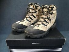 ADIDAS GEOFIT Women's Tan Black Leather Hiking Boots Outdoor Plein Air Size 9 US