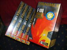 VHS 10 x HANIMAX E180min Brand New Factory Shrinkwrapped/Boxed video blank tapes