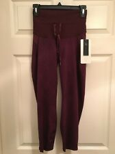 Lululemon Shake It Out Crop NWT Sz 4 SPXR/Bordeaux Drama