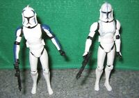 Rare Star Wars Clone Wars Trooper Mixer + Hardcase Action Figure Lot - Used