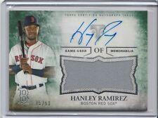 Hanley Ramirez Auto & Jersey #25/50 - Boston Red Sox - 2015 Topps Triple Threads