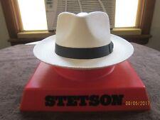 Borsalino Panama Safari Straw Hat 7 3 8 Excellent Condition 88befd9185cd