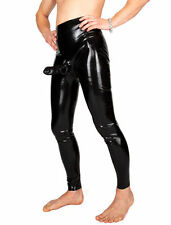 Latex Gummi Leggings mit Penishülle Rubber Pants Gummihose Größe wählbar Neu