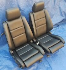 BMW E30 OEM Convertible M3 RESTORED Black German Vinyl Sport Seats 84-91