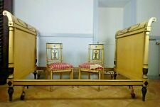 Antique French Directoire Bed with Matching Chairs, 18th Century **RARE**