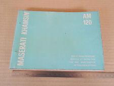 MANUALE USO MANUTENZIONE ORIGINALE MASERATI KHAMSIN 1974
