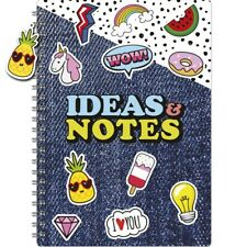 A4 Lined Ideas Notebook Notepad Spiral Writing Journal Pad Diary Planner Book