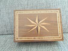 Holztruhe Holz Truhe Massov mit Intarsien 28 x 19 x 10 cm