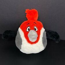 "Angry Birds Rio Pedro the Parrot Bird 7"" Plush Red Gray Stuffed Animal NO Sound"