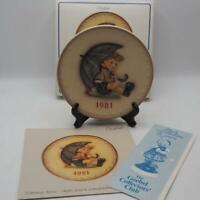 Vintage Hummel 11TH Annual Plate 1981 Goebel Little Helper HUM 274 w/ Box