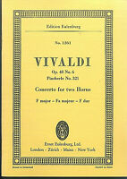 Taschenpartitur ~ Vivaldi : Concerto for two Horns F-Dur OP. 48 No. 6