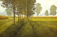 """Oliviero Masi """"Summer Time"""" Signed Numbered Vernice Molle Etching from Italy OBO"""