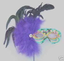 Mardi Gras Mambo Masquerade Ball Wand Style Party Mask
