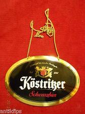 Köstritzer Schwarzbier Zapfhahnschild P130