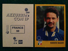 AZZURRI CON IP 1998 98 FRANCE 98 ROBERTO BAGGIO Figurina Sticker Merlin New