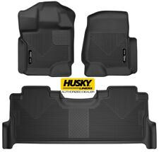 HUSKY X-Act Contour Floor Mats for 17-19 Ford F250 F350 Crew Cab Full Set 53388