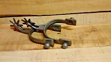 2 Cast Iron Spurs Rodeo Cowboy Western Rustic Home Decor Silver in color