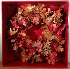 """Crate&Barrel Oak Leaf Wreath 18"""" New In Box!"""