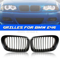 Front Kidney Grille Grill For BMW E46 98-02 Pre-Facelift 1998-2002 2-Door